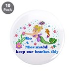"""Be a Mermaid 3.5"""" Button (10 pack)"""