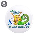 """Mermaid Lagoon 3.5"""" Button (10 pack)"""
