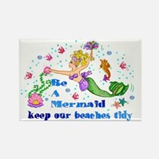 Save the Mermaids Rectangle Magnet (10 pack)