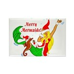 Merry Mermaids Rectangle Magnet (10 pack)