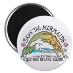 """Save the Mermaids 2.25"""" Magnet (100 pack)"""