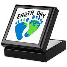 Earth Day Footprints Keepsake Box
