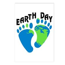 Earth Day Footprints Postcards (Package of 8)