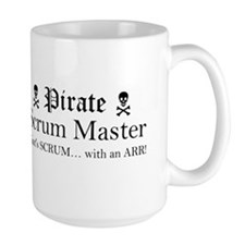 Pirate SM R Sticker (Black) Mugs