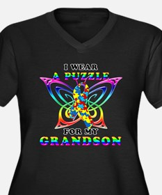 I Wear A Puzzle for my Grandson Women's Plus Size