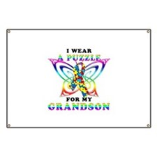 I Wear A Puzzle for my Grandson Banner