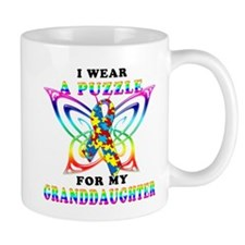 I Wear A Puzzle for my Granddaughter Mug