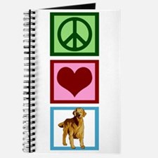 Cute Golden Retriever Journal