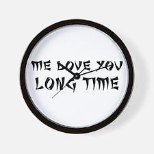 Love You Long Time Wall Clock