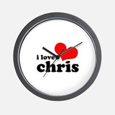 I Love Chris Wall Clock