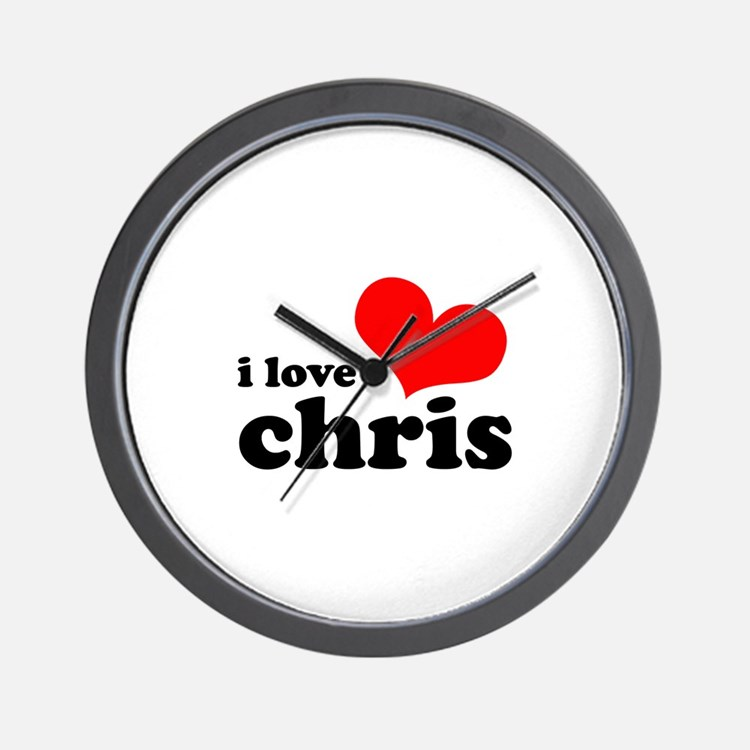I Love Chris Wall Clock