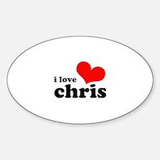 I Love Chris Decal