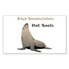 Club Sandwiches Not Seals Decal