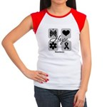 Hope Inspires Melanoma Women's Cap Sleeve T-Shirt