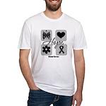 Hope Inspires Melanoma Fitted T-Shirt