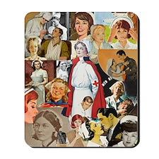 Vintage Nurse Collage Mousepad