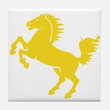 Yellow Stallion Tile Coaster