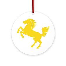 Yellow Stallion Ornament (Round)