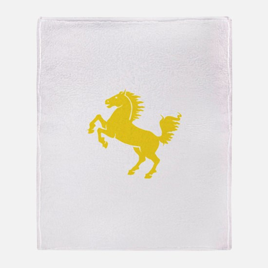 Yellow Stallion Throw Blanket