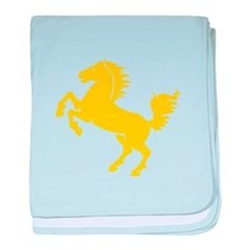 Yellow Stallion baby blanket