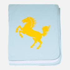 Yellow Stallion baby blanket