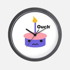 Ouch Cupcake Wall Clock