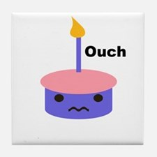 Ouch Cupcake Tile Coaster