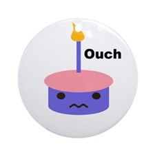Ouch Cupcake Ornament (Round)