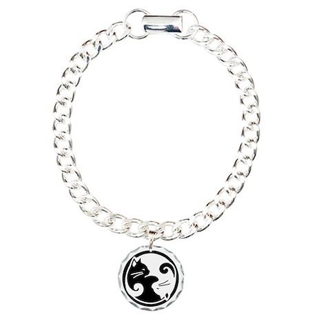 Yin Yang Cats Charm Bracelet