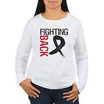 Fighting Back Melanoma Women's Long Sleeve T-Shirt