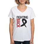 Fighting Back Melanoma Women's V-Neck T-Shirt
