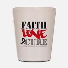 Faith Love Cure Melanoma Shot Glass