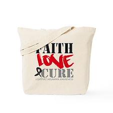 Faith Love Cure Melanoma Tote Bag