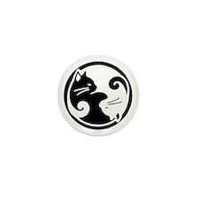 Yin Yang Cats Mini Button