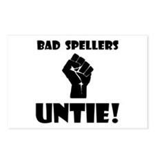 Bad Spellers Untie! Postcards (Package of 8)