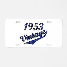 Unique Vintage 1953 Aluminum License Plate