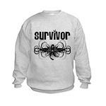 Melanoma Cancer Survivor Kids Sweatshirt