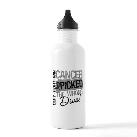 Cancer Wrong Diva Melanoma Stainless Water Bottle
