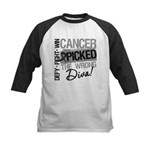 Cancer Wrong Diva Melanoma Kids Baseball Jersey