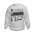 Cancer Wrong Diva Melanoma Kids Sweatshirt