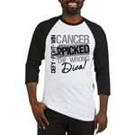 Cancer Wrong Diva Melanoma Baseball Jersey