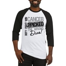 Cancer Wrong Diva Melanoma Baseball Jersey