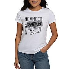Cancer Wrong Diva Melanoma Tee