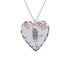 Tin Man Necklace Heart Charm