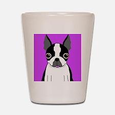 Boston Terrier (Black) Shot Glass