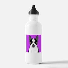 Boston Terrier (Black) Water Bottle