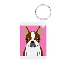 Boston Terrier (Brown) Keychains