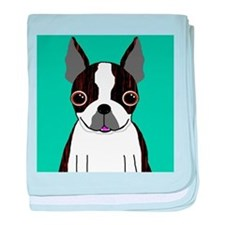 Boston Terrier (Dark Brindle) baby blanket