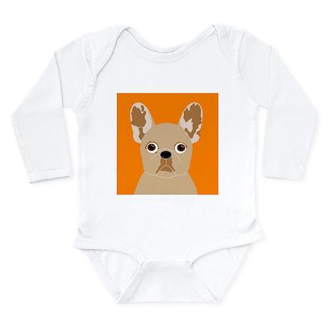 Frenchy (Fawn) Long Sleeve Infant Bodysuit