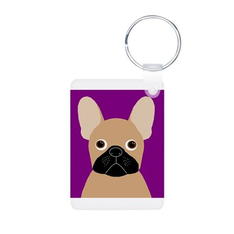 Frenchy (Masked Fawn) Aluminum Photo Keychain